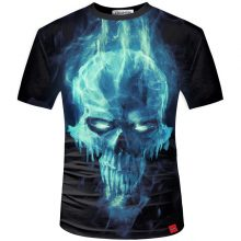 Men's 3D Skull Printed T-Shirt