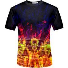 Men's 3D Skull Printed T-Shirt