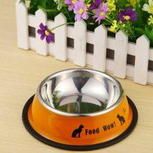 Stainless Steel Anti-Skid Feeding Bowls For Pets