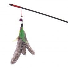 Cat`s Plastic Teaser Toy with Feather
