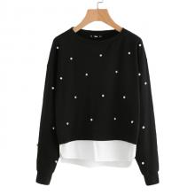 Women's Pearl Beaded Sweatshirt
