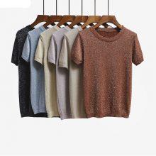 Women's Knitted Summer O-Neck T-Shirt