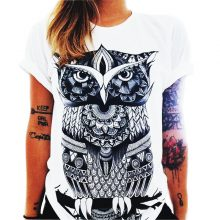 Women's Cartoon Style Cotton T-Shirt