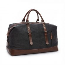 Canvas and Leather Travel Men's Tote Bag