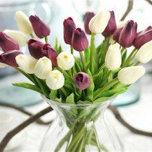 PU Artificial Tulip Flowers Bouquet