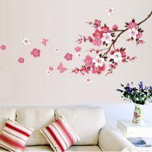 Cherry Blossom Flower Waterproof Wall Sticker