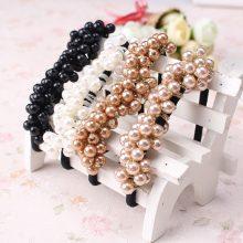 Vintage Elastic Pearls Hairbands for Women